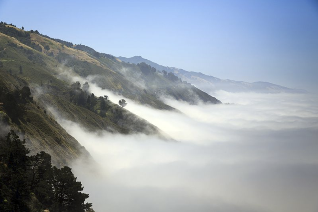 California costal cloud inversion
