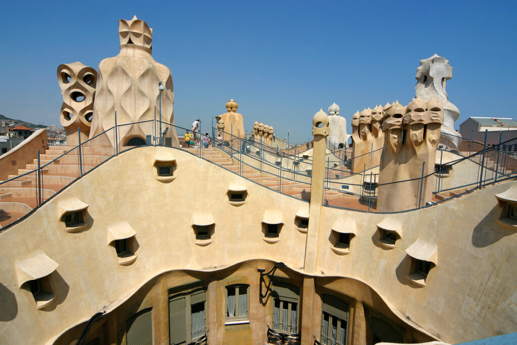 The rooftop of La Pedrera. Barcelona, Catalonia, Spain.