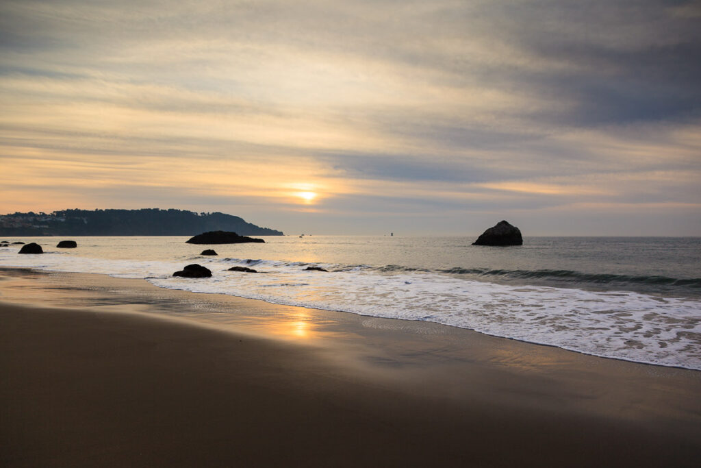 Marshall Beach, San Francisco, at Sunset